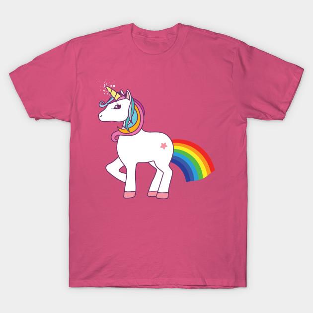 Rainbow Farting Unicorn - Unicorn - T-Shirt | TeePublic