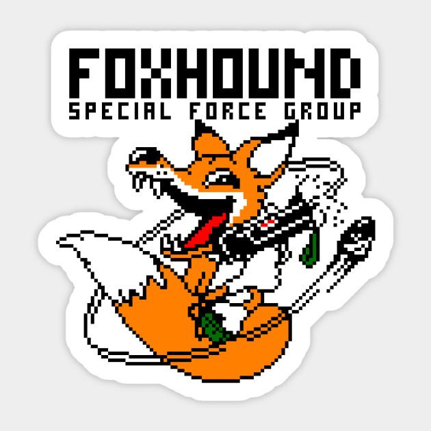 FOXHOUND Pixel Art MGS Logo 1