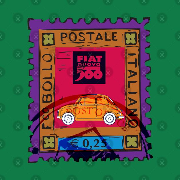 Vintage Fiat Stamp