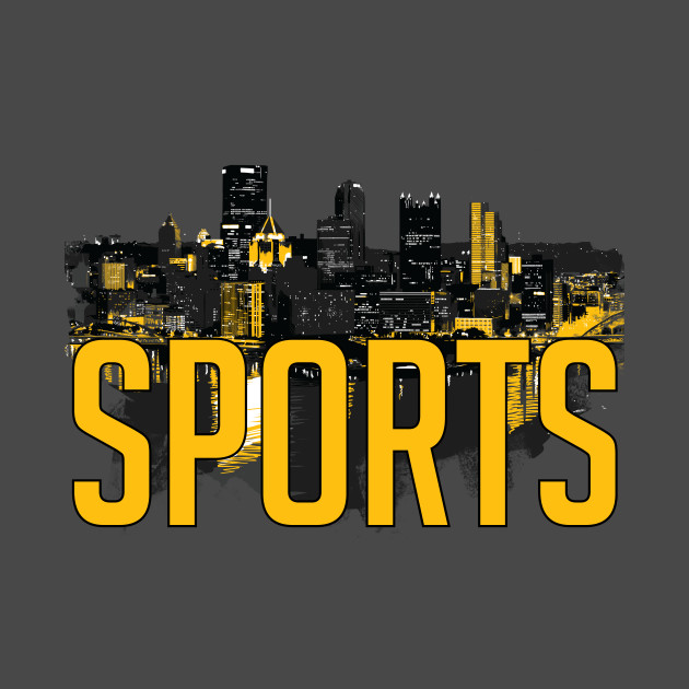 Pittsburgh Sports City Skyline Black and Yellow
