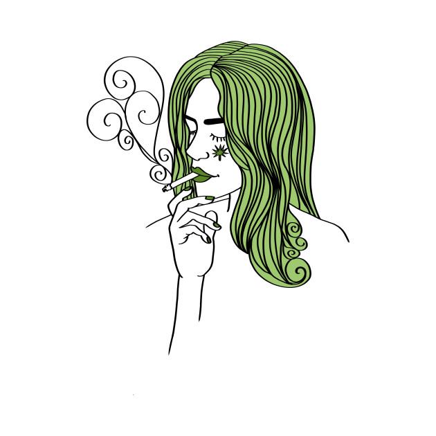Ganja Girl Weed 420 Blaze Marihuana Gift Present Mary Jane