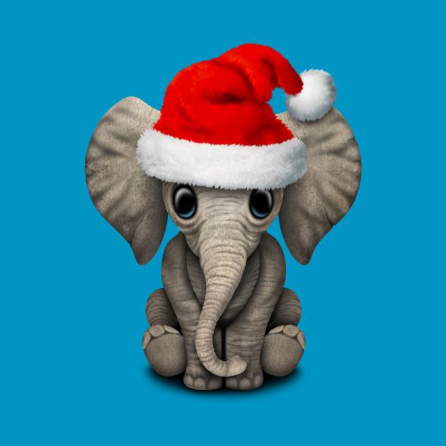 Baby Elephant Wearing a Santa Hat Baby Elephant Wearing a Santa Hat 75727241d94