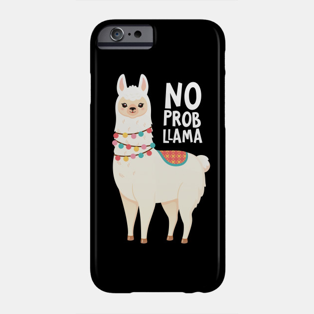 separation shoes 7d233 310d8 No Prob-Llama - Cute Llama Illustration Design T-Shirt