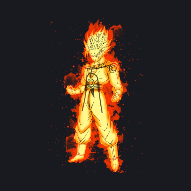 Super Saiyan Goku Kurama Chakra Mode