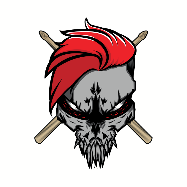 The Drummer Skull