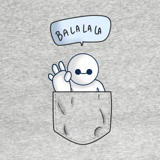 Pocket Baymax With Pocket Shading T-Shirt