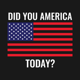 Did You America Today? t-shirts