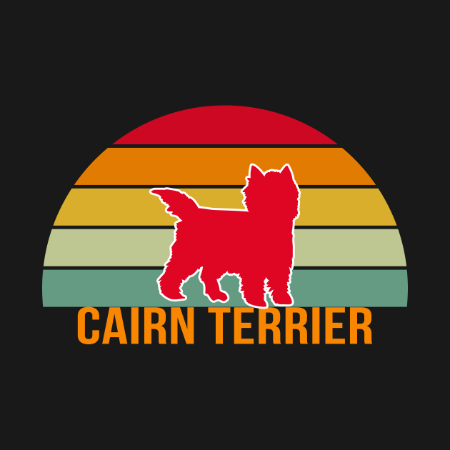 Cairn Terrier Vintage Silhouette