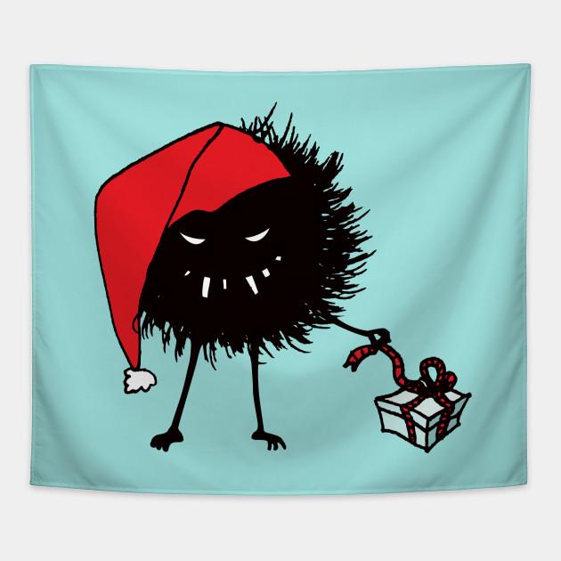 Evil Christmas.Evil Christmas Bug With Present