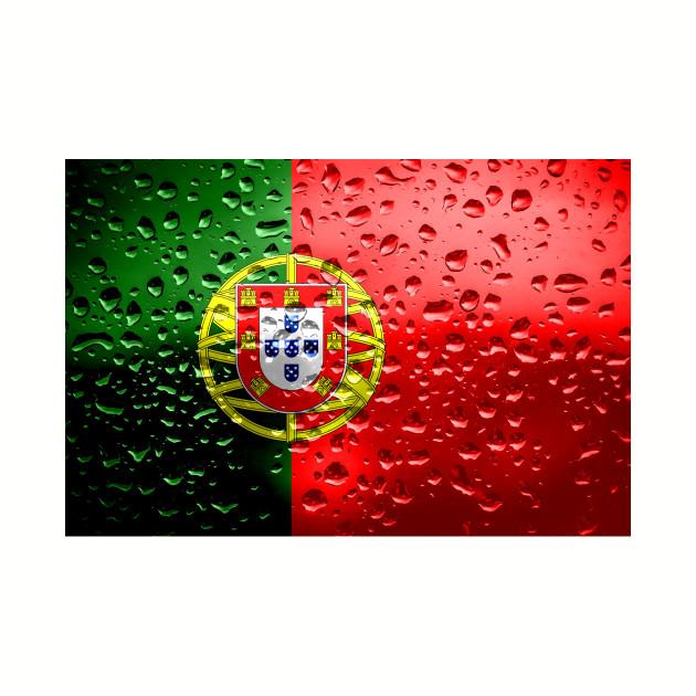 Flag of Portugual - Raindrops