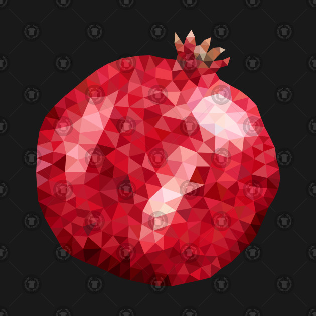 Low poly pomegranate garnet