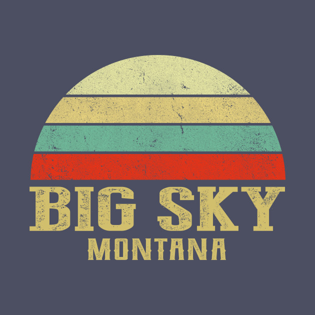 MONTANA - Vintage Retro Sunset BIG-SKY,-MT-Shirt