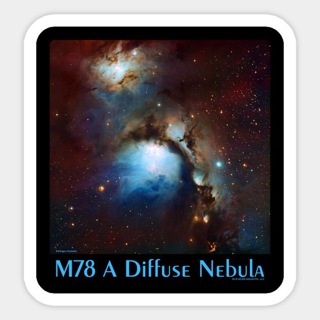 M78 Diffuse Nebula Astronomy Sticker