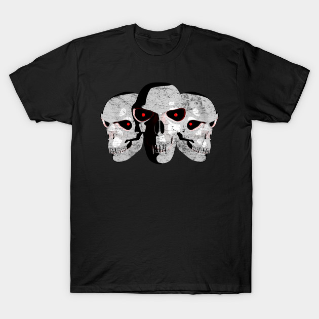 Three Scary Monster Skulls