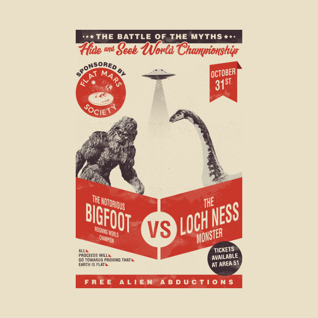 Bigfoot VS Loch ness monster (hide and seek)