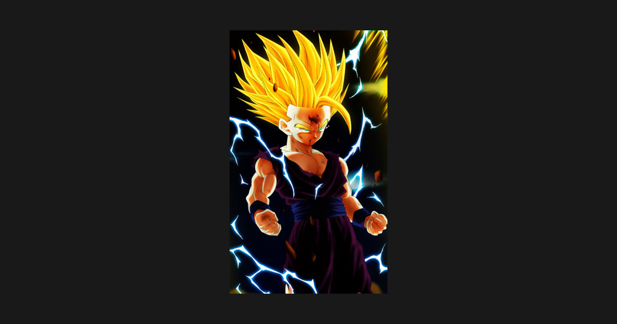 Teen gohan ssj2 dragon ball sticker teepublic