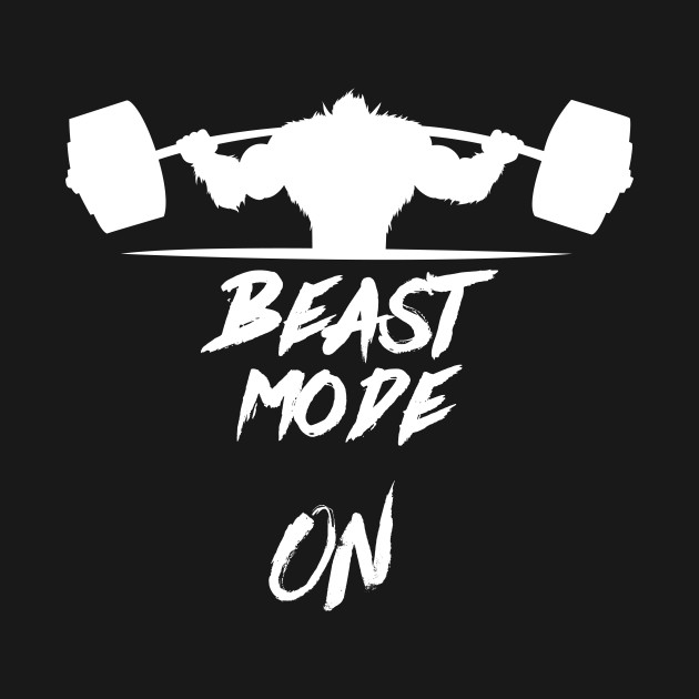 beast mode on heavy weights beast mode tshirt teepublic
