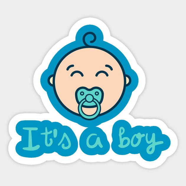 It S A Baby Boy Baby Sticker Teepublic