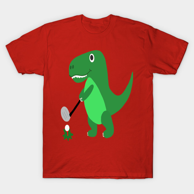 61bca5dc Funny T-rex Dinosaur Playing Golf - T Rex - T-Shirt | TeePublic