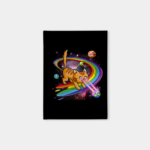 Cute Space Cat Eye Lasers and Rainbow Farts