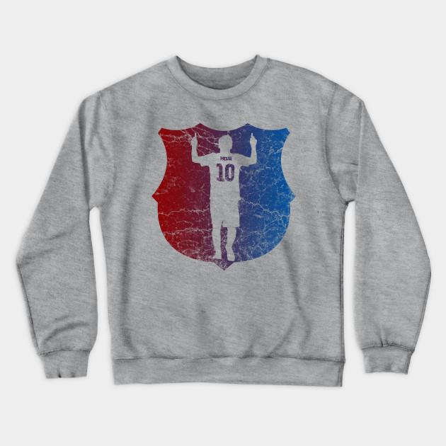 Messi Barcelona Colors Barcelona Crewneck Sweatshirt Teepublic