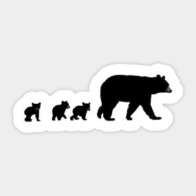 bear family stickers teepublic