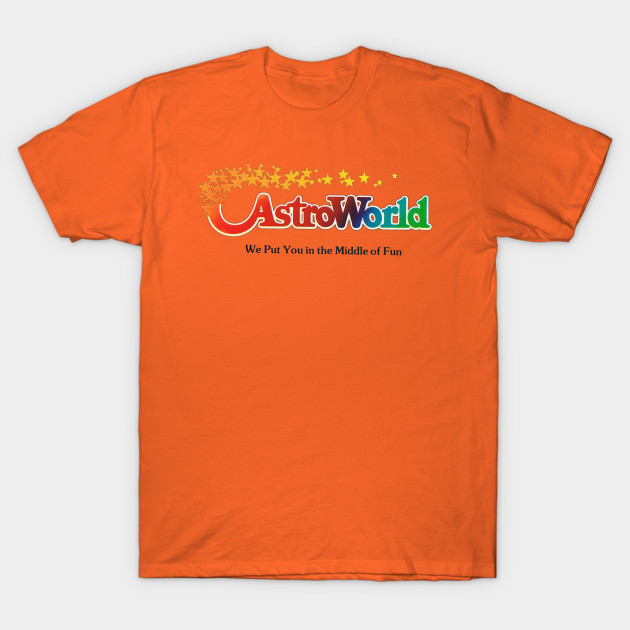 Astroworld Theme Park - Houston, Texas - Promo Logo T-Shirt-TOZ