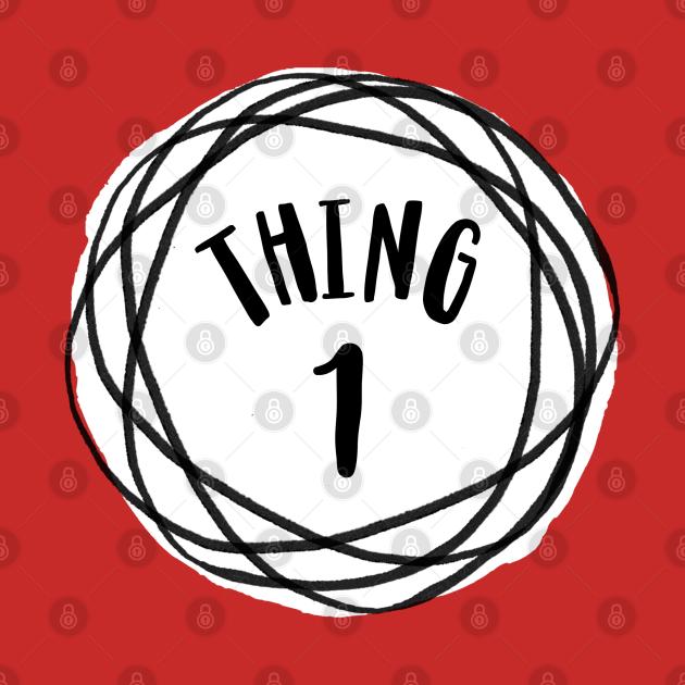 Dr. Seuss Thing 1 Emblem RED