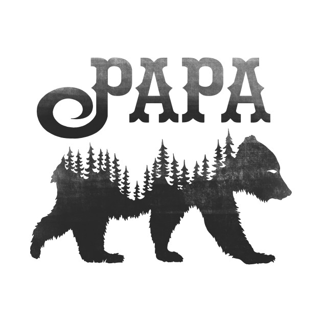 Papa Bear Black Dad T Shirt Teepublic