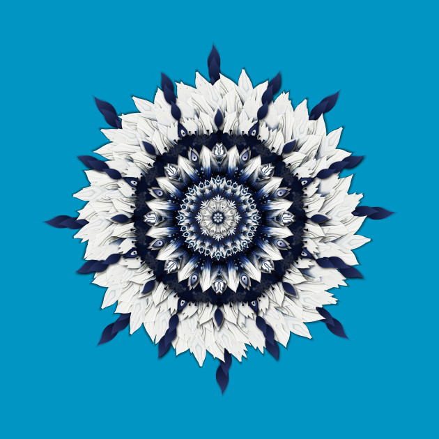 Blue Sash Flower Mandala