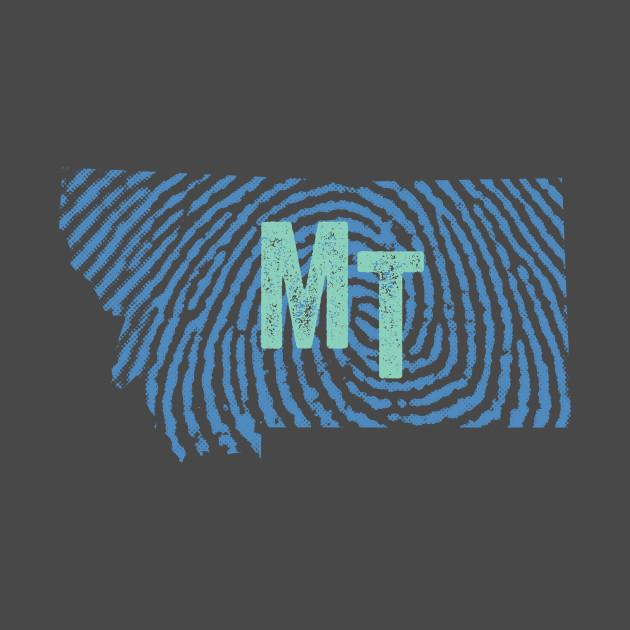 Home State Fingerprint  - Montana
