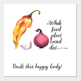 Whole Food Plant Based Diet Posters and Art Prints | TeePublic