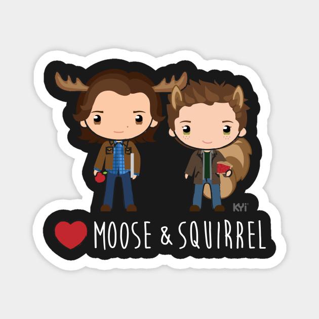 Love Moose & Squirrel - Supernatural