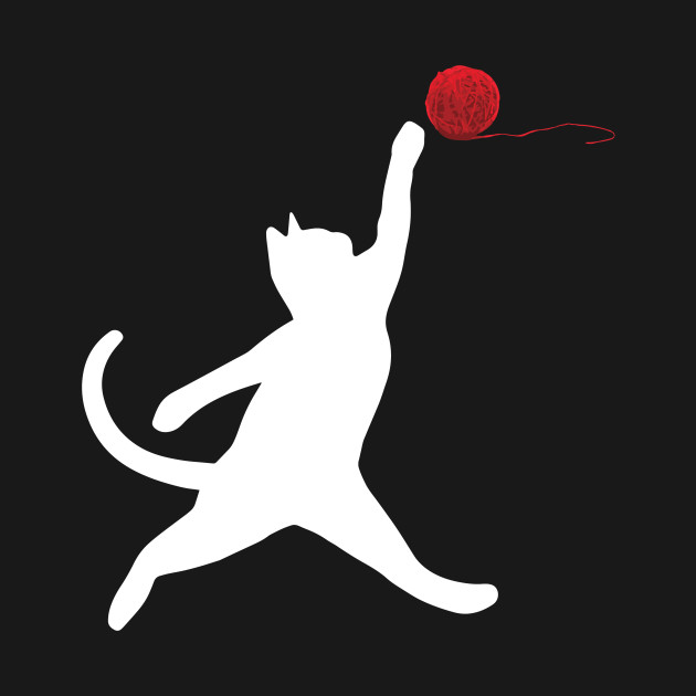 Cat Swatting at Ball of Yarn