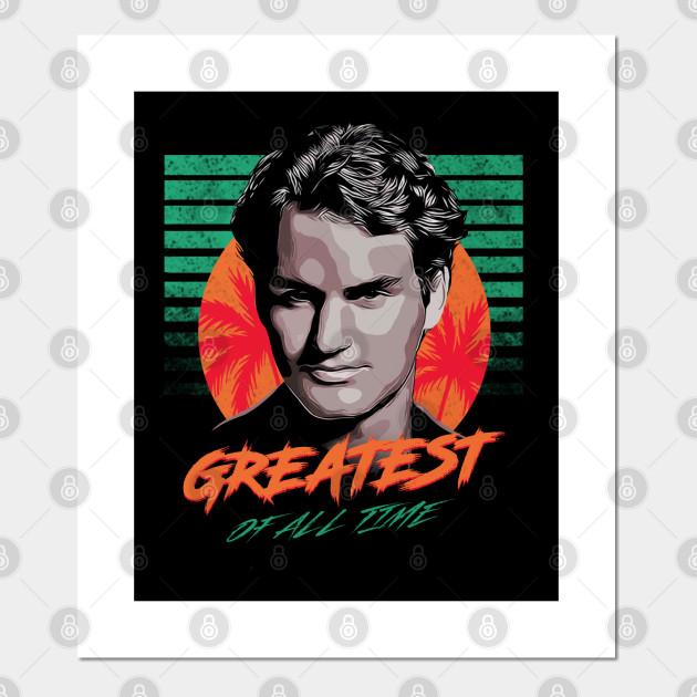 Federe X Cuscini.Roger Federer Goat Roger Federer Poster E Stampa Artistica