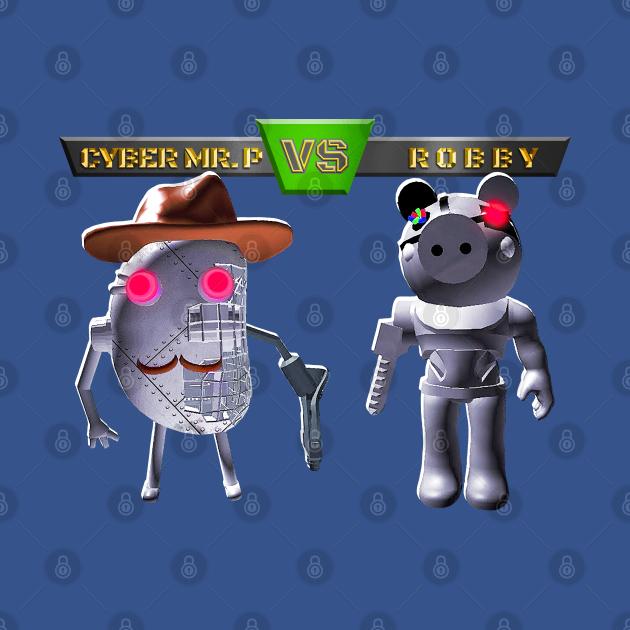 Cyber Mr. P VS Robby - Roblox - T-Shirt   TeePublic