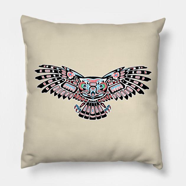 b08a76436 Mystic Owl in Native American Style - Mystic Owl - Pillow | TeePublic