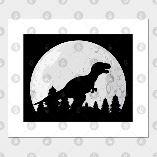 Moon And Dino Silhouette Dinosaur T Rex Prehistoric Animal Dinosaur Affiche Et Impression D Art Teepublic Fr Dinosaur silhouette free vector we have about (5,830 files) free vector in ai, eps, cdr, svg vector illustration graphic art design format. moon and dino silhouette dinosaur t rex prehistoric animal by psykograf