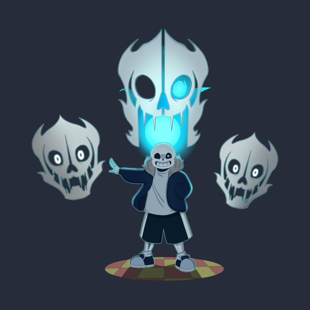 undertale sans and gaster blaster papyrus tapestry teepublic