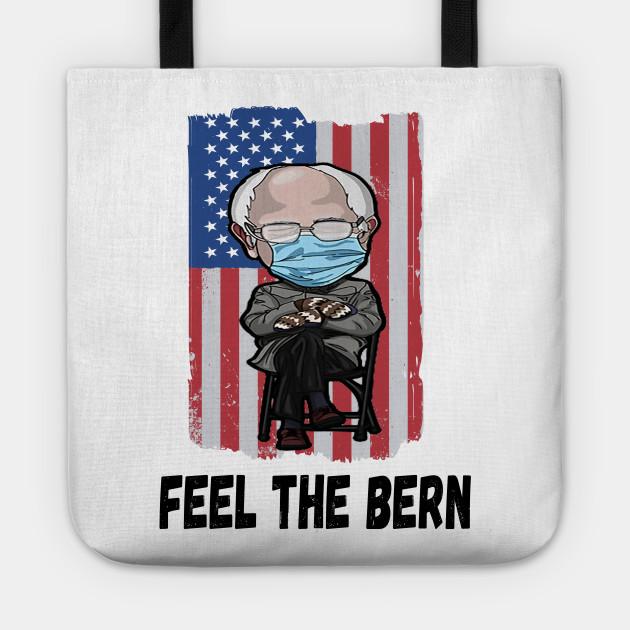 Feel the Bern Bernie Sanders  Magnet  Bernie magnet  Bernie\u2019s mittens  inauguration Bernie  funny gift  birthday