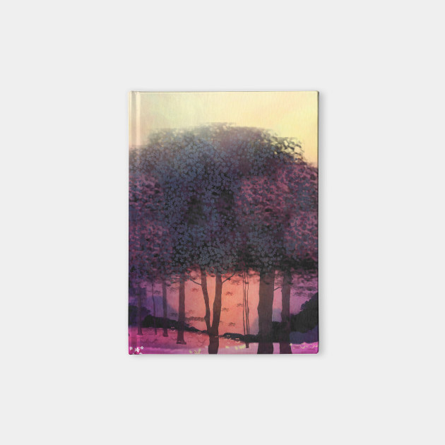 Pink Sunset Forest