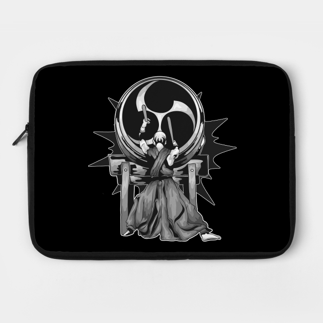 Taiko Odaiko Drummer Black & White Illustration