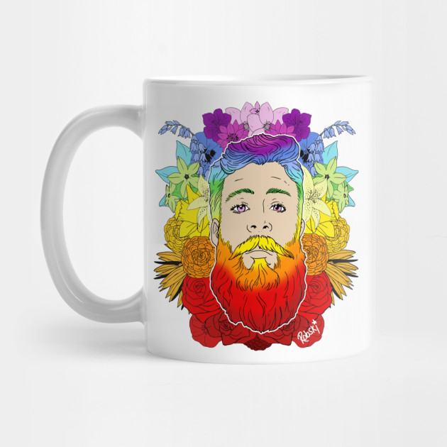 Bearded Floral Pride