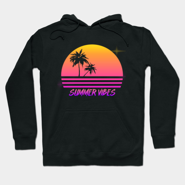 bc5608dc4ef8 Summer Vibes - Retro Synth Sunset Style - Summer - Hoodie
