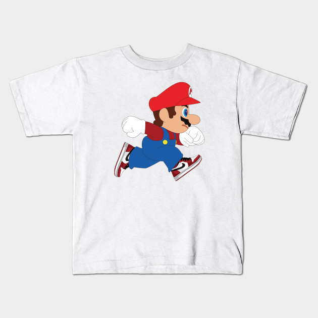 6243caa70735c9 Super Mario Jumpman - Super Mario Brothers - Kids T-Shirt
