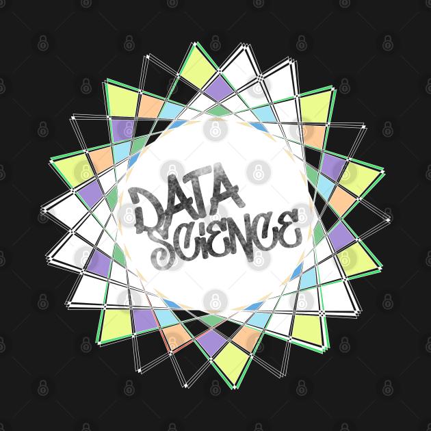 Data Science Graffiti | Abstract Geometric Street Art White