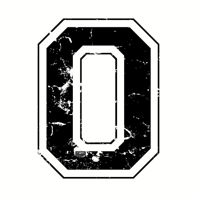 Number 0 Zero Black Jersey Sports Athletic Player