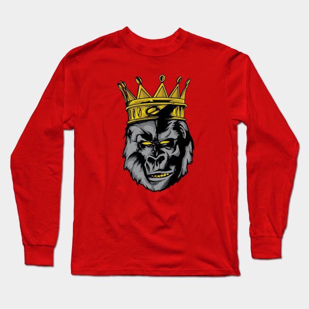 93f2ae01 Gorilla king - Gorilla King With A Crown - Long Sleeve T-Shirt ...