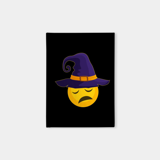 Halloween Costume Emoji Emoticon Witch Hat Pensive Face