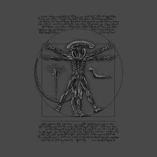 Vitruvian Alien t-shirts